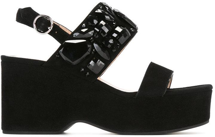 Marc JacobsMarc Jacobs Lily embellished wedge sandals