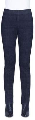 Akris Punto Mara Glen Check Velvet Pants