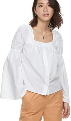 K Lab k/lab Squareneck Bell Sleeve Shirt