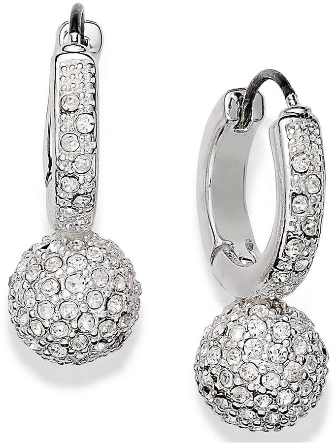 Charter Club Silver-Tone Fireball Drop Earrings