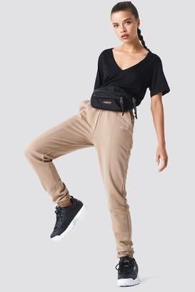 NA-KD Panel Sweatpants Black