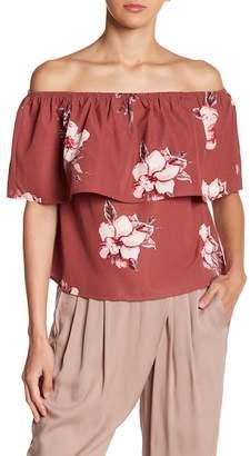 HYFVE Floral Off-the-Shoulder Top