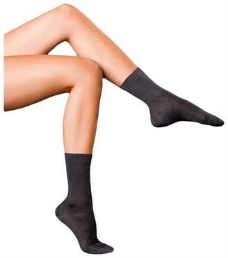 Falke Womens Finest No2 Pure Silk Socks - Asphalt - Medium