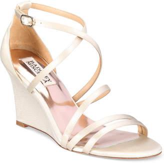 Badgley Mischka Bonanza Strappy Wedge Evening Sandals