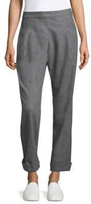 Lafayette 148 New York Finite Cropped Flannel Pants