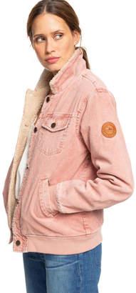 Roxy Desert Sands Sherpa-Lined Corduroy Jacket