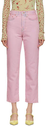Acne Studios Pink Bla Konst Mece Jeans
