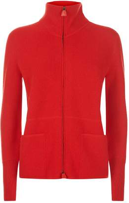 Akris Cashmere Zip-Up Sweater