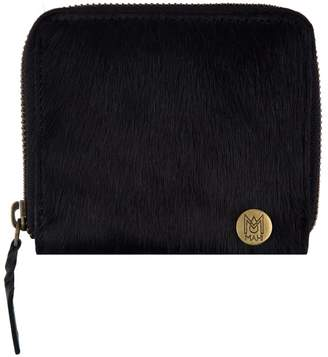 MAHI Leather - Classic Ladies Coin Purse In Ebony Black Pony Hair Leather