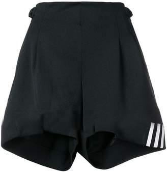 Y-3 3-stripes belted shorts