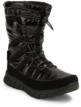 Khombu Alta Mid Faux Fur-Lined Draw-Cord Boots $99 thestylecure.com
