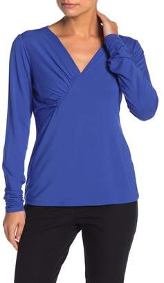Elie Tahari Vicky Ruched Long Sleeve T-Shirt