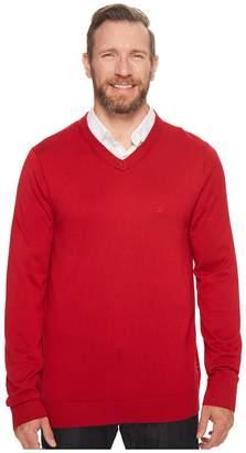 Nautica Big Tall 12GG V-Neck Sweater Men's Sweater