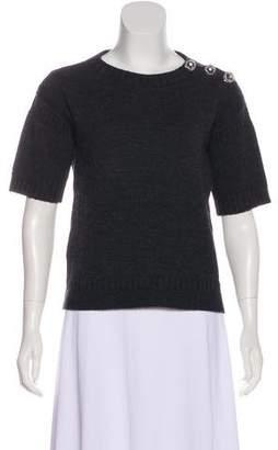 Louis Vuitton Wool Embellished Top