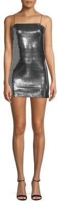 Topshop PETITES Foil Sequin Slip Dress