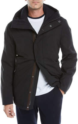 Ermenegildo Zegna Men's Hooded Wool Car Coat