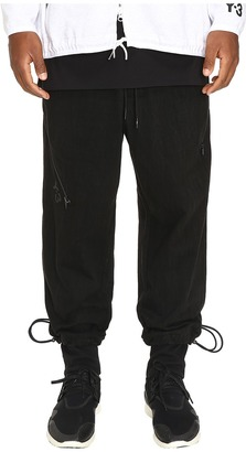 adidas Y-3 by Yohji Yamamoto - Grain Jersey Pants Men's Casual Pants $410 thestylecure.com