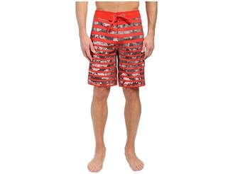The North Face Whitecap Boardshorts (Fiery Red Moss Stripe