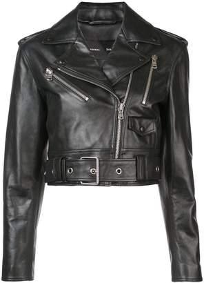 Proenza Schouler cropped fitted biker jacket