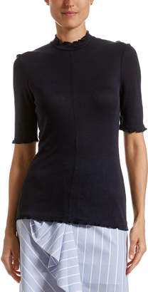 SABA Nellie Ribbed Fabric Top