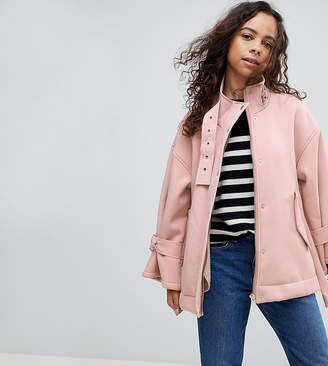 Asos Bonded Jacket with Borg Lining and Metalwear