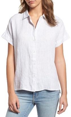 Women's James Perse Linen Shirt $185 thestylecure.com