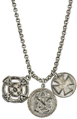 Mr. Lowe Men's Triple-Disc Pendant Necklace
