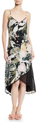 Club Monaco Kittrick Floral-Print Silk Midi Dress