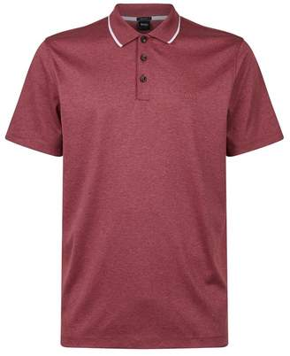 HUGO BOSS Cotton Stripe Detail Polo Shirt