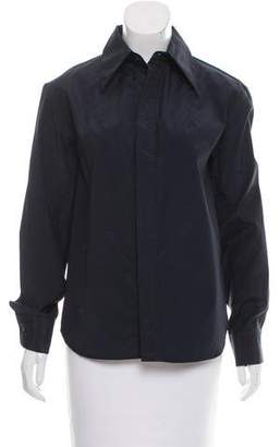 Reed Krakoff Long Sleeve Button Up Top