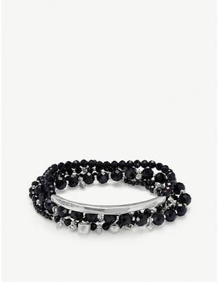 Kendra Scott Supak rhodium-plated and tinted glass beaded bracelet