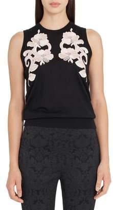 Dolce & Gabbana Lace Detail Cashmere Shell