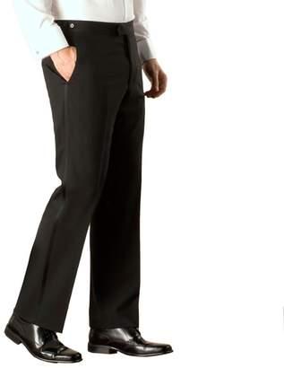 Green & Black Racing Green - Black Plain Weave Regular Fit Dresswear Trouser