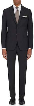 Boglioli Men's Virgin Wool Plain-Weave Two-Button Suit - Charcoal