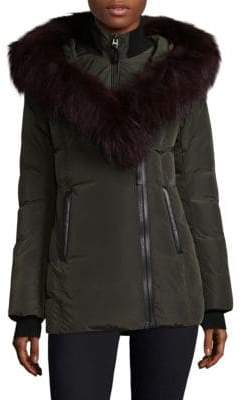 Mackage Adali Fur Trim Hooded Down Jacket
