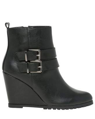 Le Château Women's Almond Toe Wedge Heel Ankle Boot
