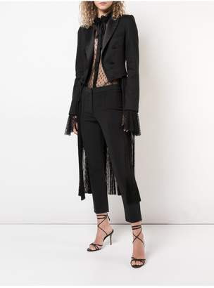 ADAM by Adam Lippes Double Face Wool Blazer With Removable Fringe Detail