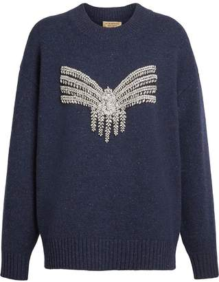Burberry Crystal-embellished Merino Wool Sweater