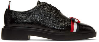 Thom Browne Black Wholecut Bow Oxfords