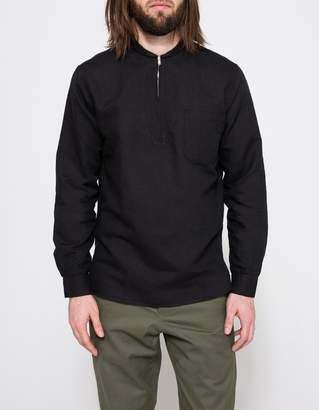 Our Legacy Black Shawl Zip Shirt