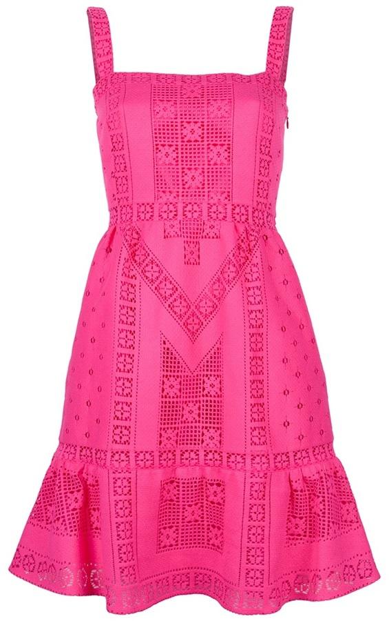 Valentino broderie anglaise A-line dress