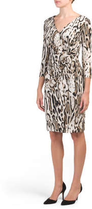 Animal Printed Jersey Dress
