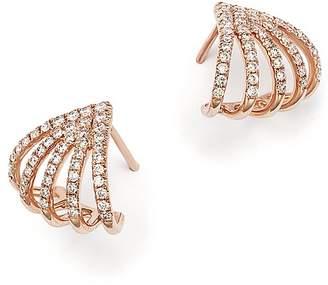 Bloomingdale's Diamond Micro Pavé Earrings in 14K Rose Gold, .40 ct. t.w.