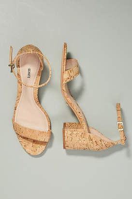 Schutz Chimes Cork Heeled Sandals