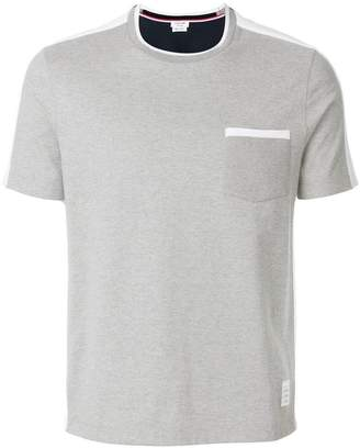 Thom Browne two-tone short-sleeve T-shirt