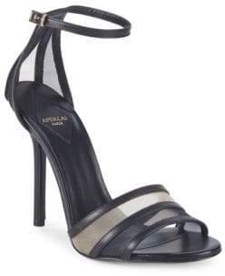 Aperlaï Metallic Ankle-Strap Sandals
