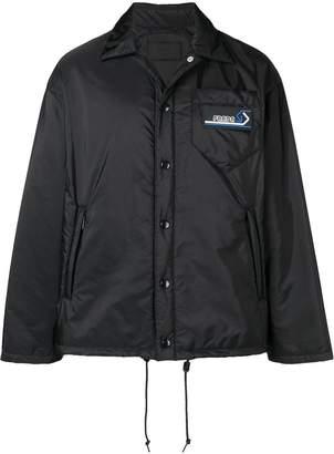 Prada logo patch shirt jacket
