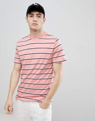New Look T-Shirt In Pink Stripe