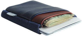 """Tgt """"Tight"""" TGT Slim Navy Blue & Oxblood Leather Wallet """"Midnight Deluxe"""""""