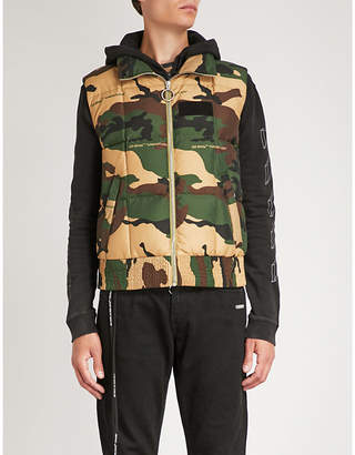 Off-White Camouflage-print quilted shell gilet